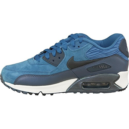 Nike Air Max 90 Leather Women Schuhe brigade blue-metallic armory navy-squadron blue – 38,5 - 2
