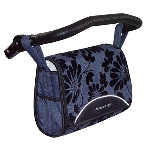 Zekiwa 803/867-08 komfortable Wickeltasche zum Kinderwagen Dessin: Jeans NL