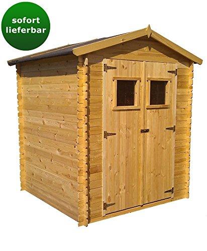 Blockbohlen Gartenhaus 19 mm Wien - L: 200 cm x B: 200 cm - inkl. Dachpappe, Zustellung kostenlos - AKTION
