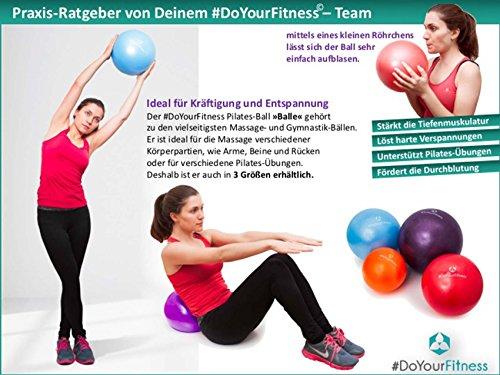 Mini Pilates Ball »Balle« 18cm / 23cm / 28cm / 33cm Gymnastikball für Beckenübungen, Stärkung der Bauchmuskulatur und partielle Massage. grün / 23cm - 6