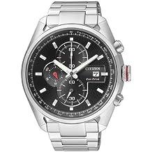 Citizen CA0360-58E - Reloj cronógrafo de cuarzo para hombre, correa de acero inoxidable multicolor