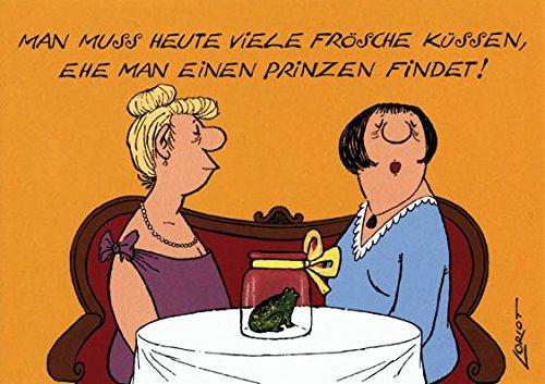 """Postkarte A6 • 092 """"Viele Frösche"""" von Inkognito • Künstler: LORIOT DESIGN GMBH © Loriot • Satire • Liebe & Romantik"""