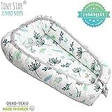 TINY STAR: Multifunktionales Babynest Nestchen, Reisebett Für Baby 2 - seitig Kuschelnest 8-36 Monate Pastel Springs