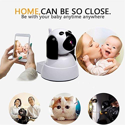 IP Kamera, Wireless WiFi Kamera 720P HD Überwachungskamera Hund IP Cam mit 355°/120°Schwenkbar, Bewegungsmelder, Nachtsicht, Fernbedienung - 4