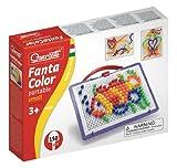 Quercetti 0922 - Mosaik-Steckspiel FantaColor Portable Small, 150 Stecker 10mm hergestellt von Quercetti