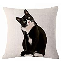 display08 Lovely Cat Print Pillow Case Cushion Throw Cover Home Sofa Decor (9#)
