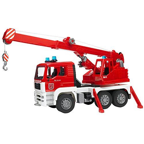 feuerwehrkran spielzeug bruder 02770 Toys Man Feuerwehr Kran-LKW mit Light & Sound Modul