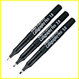 #8: Artline Ergoline Calligraphy Fountain Pen with 1.0,2.0 & 3.0mm nibs - Black Ink