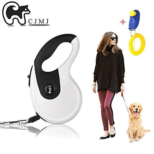 Pet guinzaglio del cane, cjmj lead dog flessibile liberamente instant retrattile allungabile guinzaglio 5m, catena corda dog running piombo
