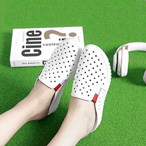 Estate Sandali 3 cm  Pistoni femminili di moda estate Fuori indossare sandali spessi (Bianco / Nero) Colore / formato facoltativo Bianca