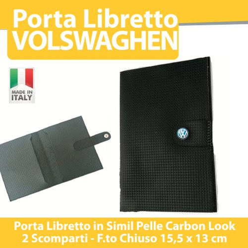 PORTA DOCUMENTI LIBRETTO ASSICURAZIONE BOLLO AUTO MOTO TUNING - VOLKSWAGEN Golf Up Polo Passat Tuareg - PORTADOCUMENTI 2 SCOMPARTI printerlad.it
