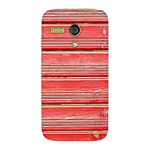 Cute Red Woodlock Print Back Case Cover for Moto G