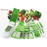 DarkPyro's 20 In 1 Fruit & Vegetable Graters Slicer Juicer Chipser, Dicer, Cutter Chopper Upgraded Deluxe Model With Unbreakable Poly Carbonate Body And Heavy Stainless Steel Blades(first Time In India-all In One Functional And Upgraded Model Of Multi