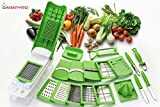 #10: DarkPyro's 20 in 1 Fruit & Vegetable Graters Slicer juicer Chipser, Dicer, Cutter Chopper Upgraded Deluxe Model With Unbreakable Poly Carbonate body And Heavy Stainless Steel Blades(first time in India-all in one functional and upgraded model of multi choppers)