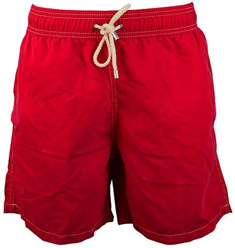 Red Point Beachwear, Herren, Badeshorts, Vintage, Ünifarbene Kollektion Rot