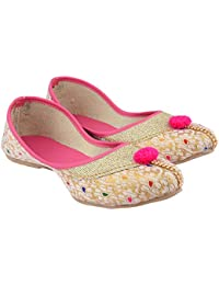 3693d683c Amazon.in  Pink - Ethnic Footwear   Women s Shoes  Shoes   Handbags