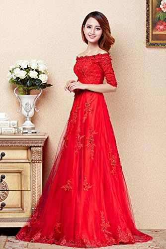 Vimans -  Vestito  - linea ad a - Donna Red1