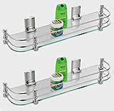 Truphe 16 inch Glass shelves for bathroo...