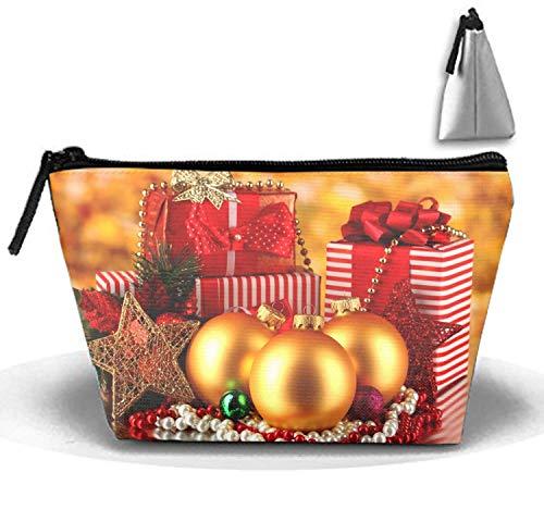 Weihnachtsschmuck Geschenk tragbare Reise Kosmetiktaschen Trapez Clutch Bag mit Reißverschluss -