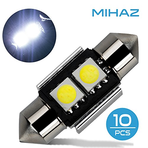 Mihaz 10x 31mm CAN-Bus senza errori del festone 2SMD W5W C5W 5050 LED SMD lampadine per luci interne auto o targa a LED Bulbi (10 * 31mm 2SMD)