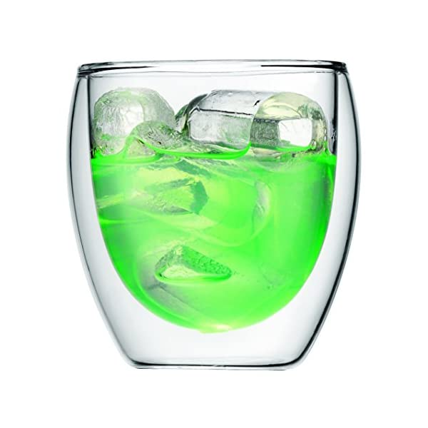 Bodum Pavina - Set de 6 Vasos térmicos, Cristal borosilicato 3