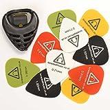 Tone Deaf Music Guitar Picks/Plectrums with Pick Holder (Pack of 10)