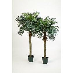 artplants - Künstliche Phönix-Palme Camila mit 21 Palmwedeln, 150 cm - Deko Palme/Kunst Palme