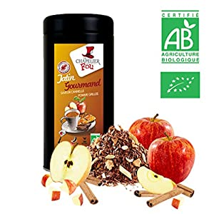 Rooibos pomme grillée cannelle bio – Boite 100g vrac – ? Certifié Agriculture biologique ?