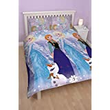 Housse de Couette Disney Frozen Elsa & Anna 200x200 cm + 2 Taie 50x75cm - 2 personne