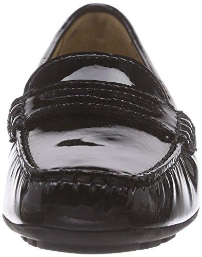 Geox  D GRIN B, Mocassins femmes Noir (C9999/Vern)