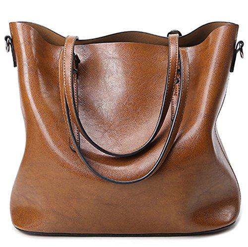 yaagle-vintage-waterproof-oil-wax-pu-leather-large-capacity-shoulder-bag-totes-for-ladies-girls