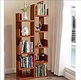 MODYL Bücherregal Boden Einfache Moderne Kinder-Schüler-Ecke Kombination Bücherregale Kreativ Baum Kleine Bücherregal,Teak