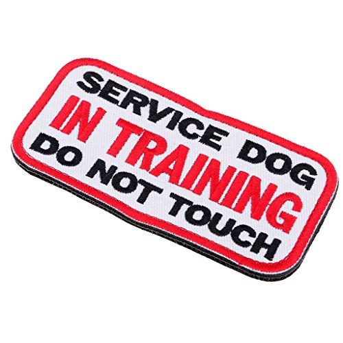 Homyl Service Dog No Touch No Talk, Service Hund Emblem Bestickter Aufnäher mit Klettverschluss - 1#