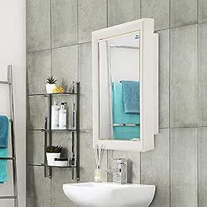 Nilkamal Gem Mirror Wall Mount Plastic Cabinet White , 1 Door