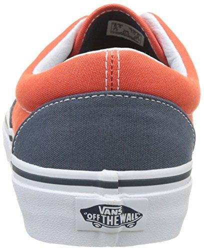 Vans Herren Ua Era Sneakers Blau (Canvas Dark Slate/cherry Tomato)