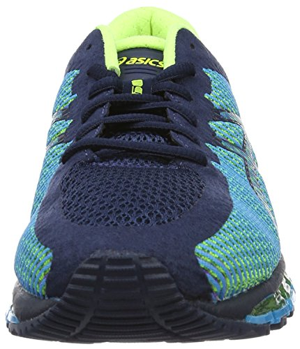 Asics Gel Quantum 360, Chaussures de Running Compétition Homme Bleu (Dark Navy/White/Safety Yellow)