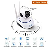 #9: SBA Wireless HD IP Wifi CCTV Indoor Security Camera Stream Live Video in Mobile or Laptop - White