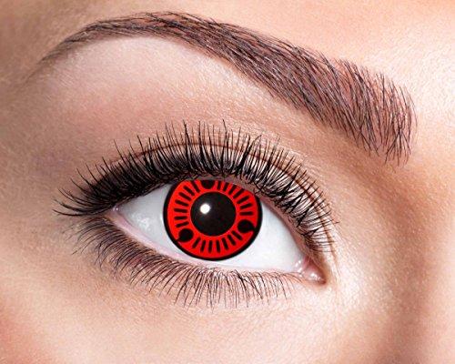 Red Itachi farbige Kontaktlinse, Jahreslinse, 14,5 mm ohne Dioptrin für Cosplay, Fastnacht, Club etc.