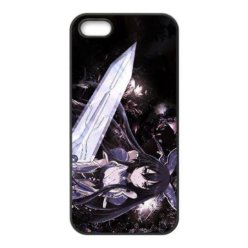 Date A Live Yatogami Tohka coque iPhone 4 4S Housse téléphone Noir de couverture de cas coque EBDXJKNBO13983