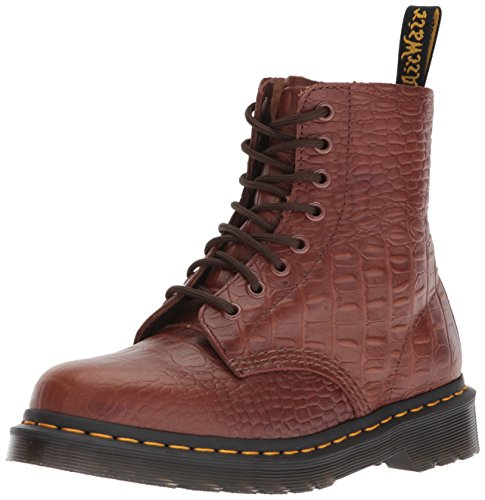 Stiefel Womens Up Brown Lace (Dr. Martens Damen Pascal Croc Kurzschaft Stiefel, Braun (Dark Brown 201), 40 EU)