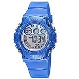 OHSEN Kinder Digital LED Anzeige Wasserdicht Chronograph Armbanduhr/Stoppuhr mit Kautschukband...
