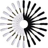 TOOGOO(R) 24 Echevettes de Fils Pour Broderie Point de Croix Tricotage Bracelets (Blanc et Noir)