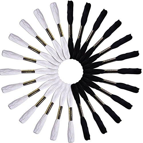 toogoor-24-echevettes-de-fils-pour-broderie-point-de-croix-tricotage-bracelets-blanc-et-noir