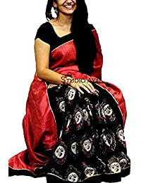 Sarees New Collection Latest Of 2017 Black Color Durga Print By Harikrishnavilla-( Sarees For Women Party Wear...
