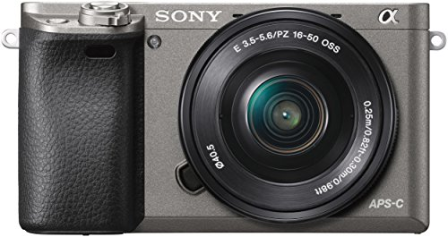 Sony Alpha 6000 Systemkamera (24 Megapixel, 7,6 cm (3″) LCD-Display, Exmor APS-C Sensor, Full-HD, High Speed Hybrid AF) inkl. SEL-P1650 Objektiv graphit-grau