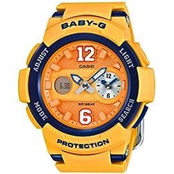 Casio reloj de pulsera de mujer Baby-G analógicoy digital, de cuarzo, correa de Resina BGA-210–4BER