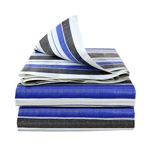 3-farbige Streifen-Regenschutz-Plane, Sonnenschutz, wasserdichte Polyplane, Bodenplane aus Kunststoff, für Plane, Baldachin, Zelt, Boot, Wohnmobil oder Pool-Abdeckung.