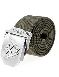 Cinturón De Tela Mili Daily R Para Regalos Elegante Hebilla Con Hombre De  Aleación Lona Jeans Cinturones Cinturones… 432138489c7e