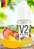 V2 Vape E-Liquid Mango - Luxury Liquid für E-Zigarette und E-Shisha Made in Germany aus natürlichen Zutaten 10ml 0mg nikotinfrei