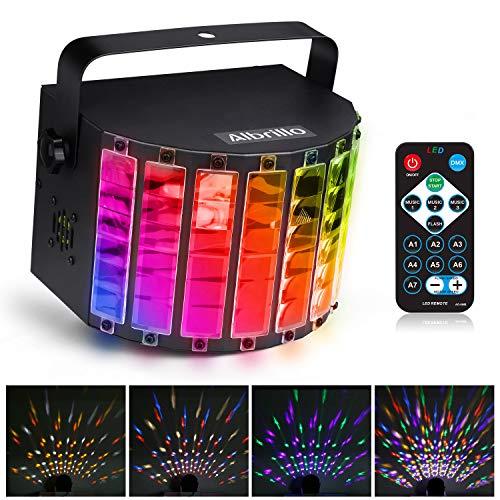 Albrillo LED Bühnenbeleuchtung - LED PAR Party Disco Licht, 9 Lichfarben Party Lampe mit 3 Modus DMX Musikgesteuert Lichteffekt LED als Partylicht für Karaoke, Geburtstag